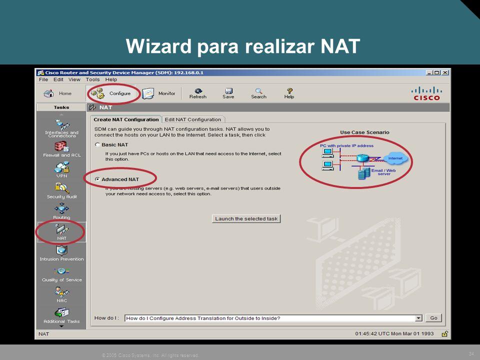 Wizard para realizar NAT