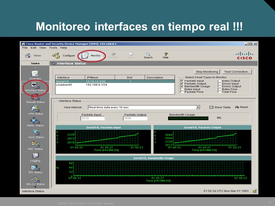 Monitoreo interfaces en tiempo real !!!