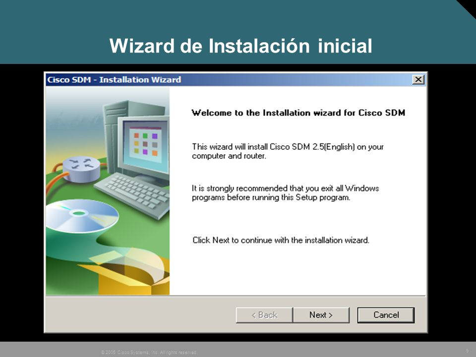 Wizard de Instalación inicial