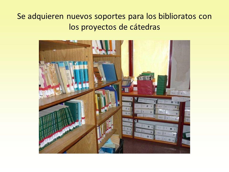 Se adquieren nuevos soportes para los biblioratos con los proyectos de cátedras
