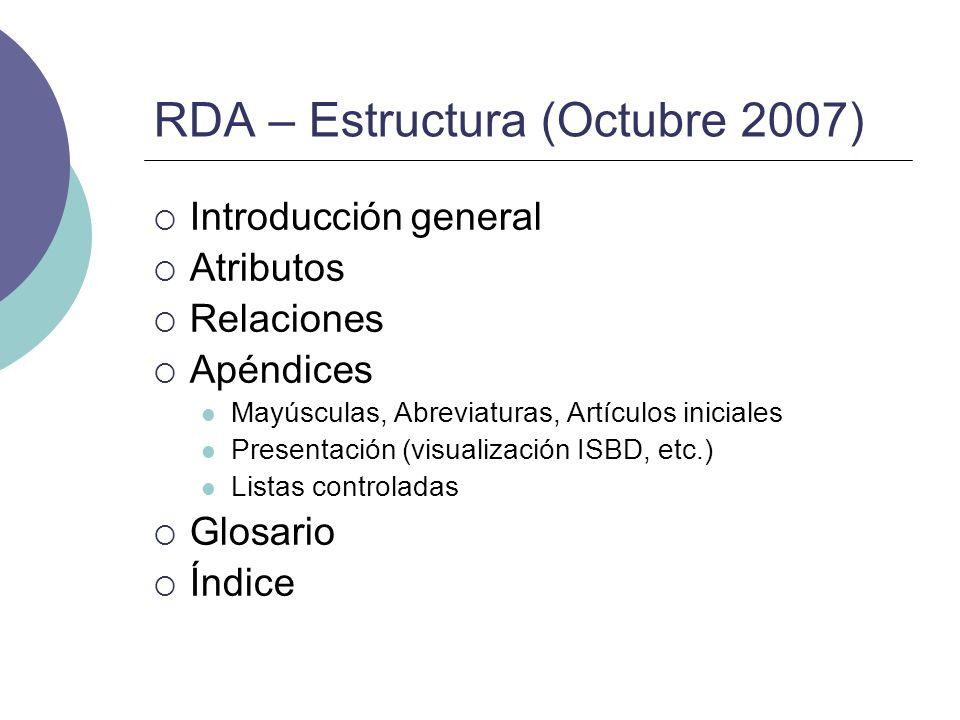 RDA – Estructura (Octubre 2007)