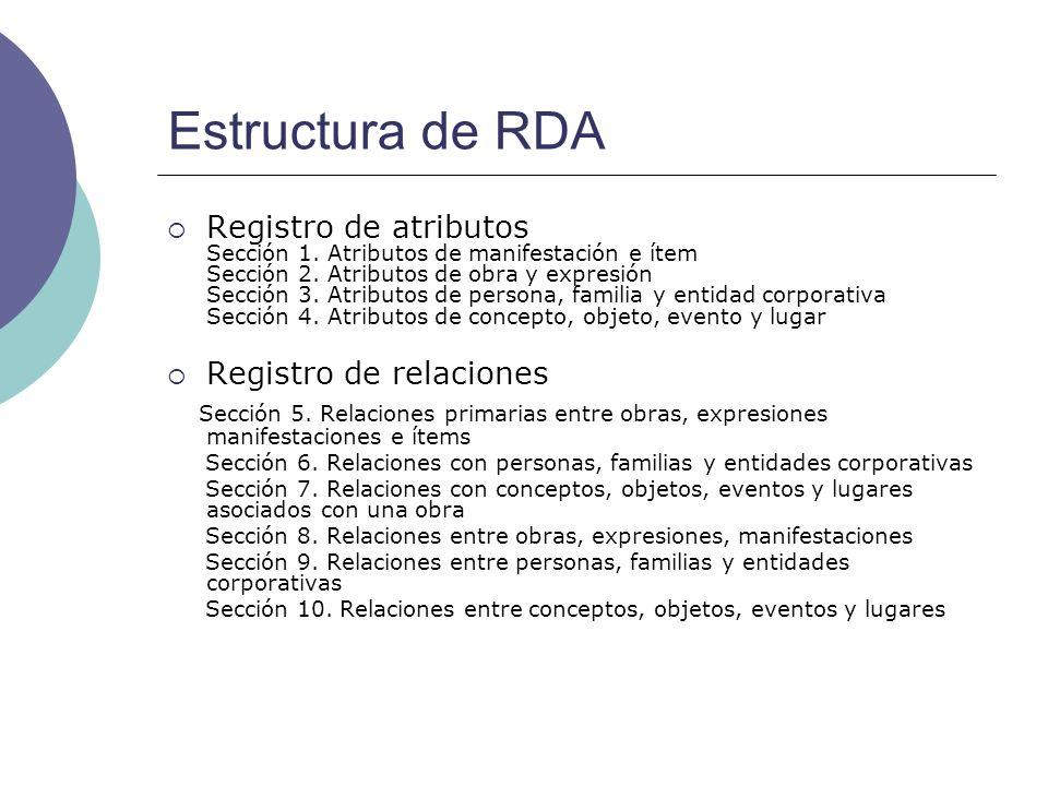 Estructura de RDA