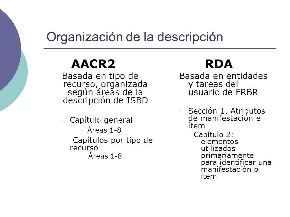 Organización de la descripción