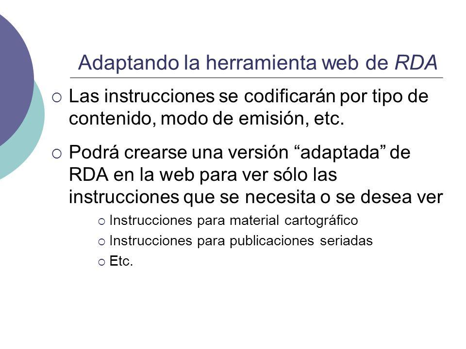 Adaptando la herramienta web de RDA