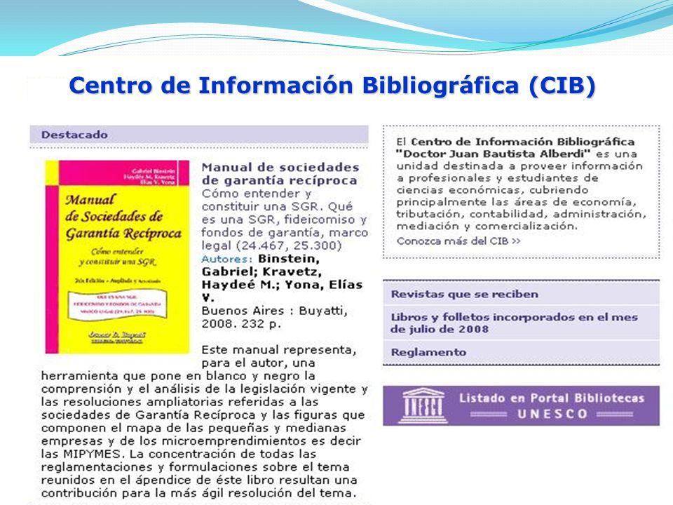 Centro de Información Bibliográfica (CIB)