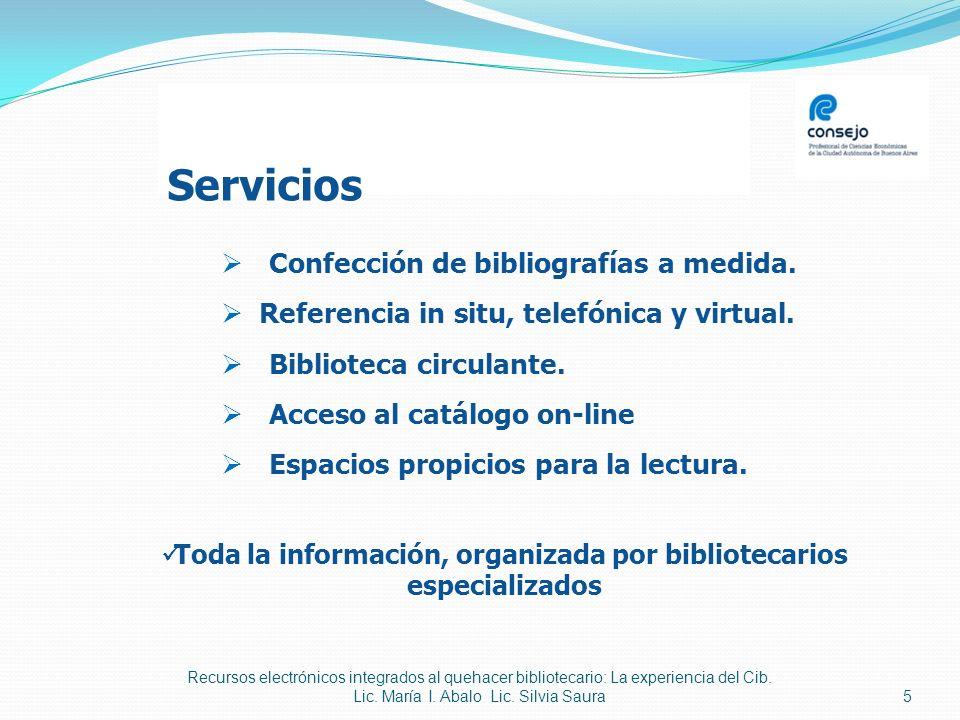 Toda la información, organizada por bibliotecarios especializados