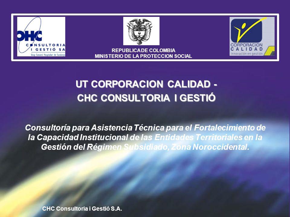UT CORPORACION CALIDAD - CHC CONSULTORIA I GESTIÓ