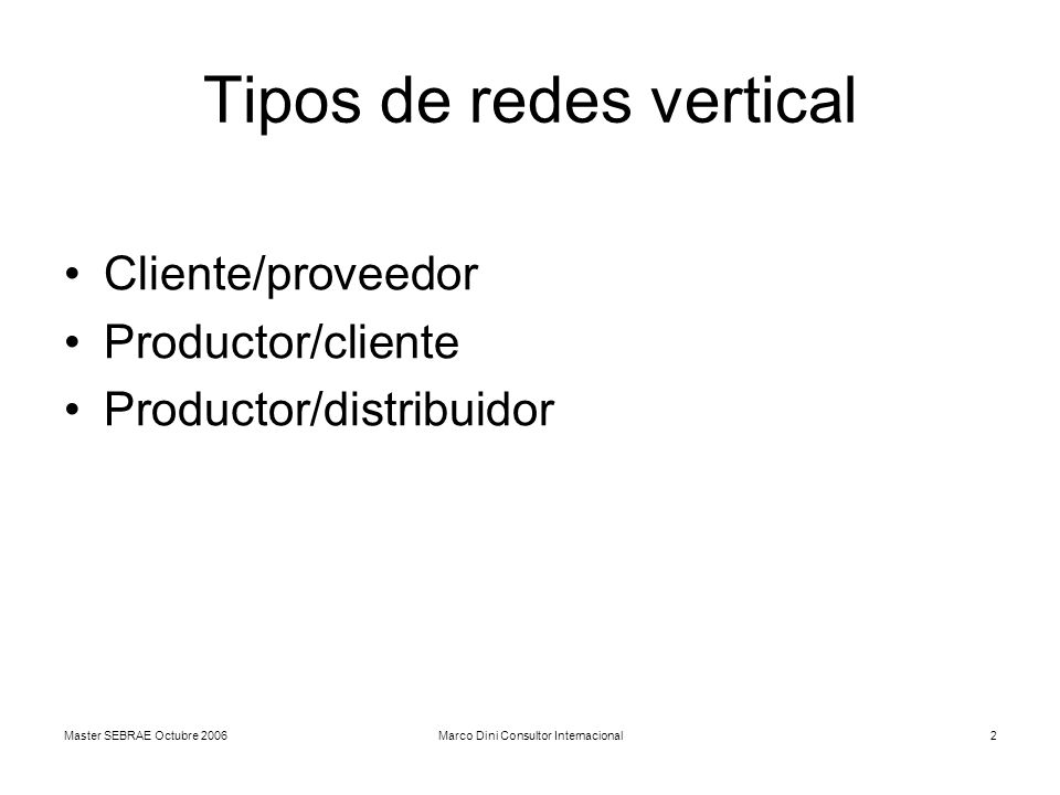 Tipos de redes vertical