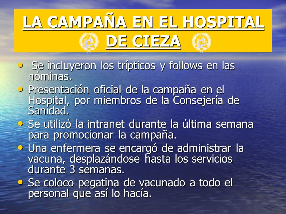 LA CAMPAÑA EN EL HOSPITAL DE CIEZA
