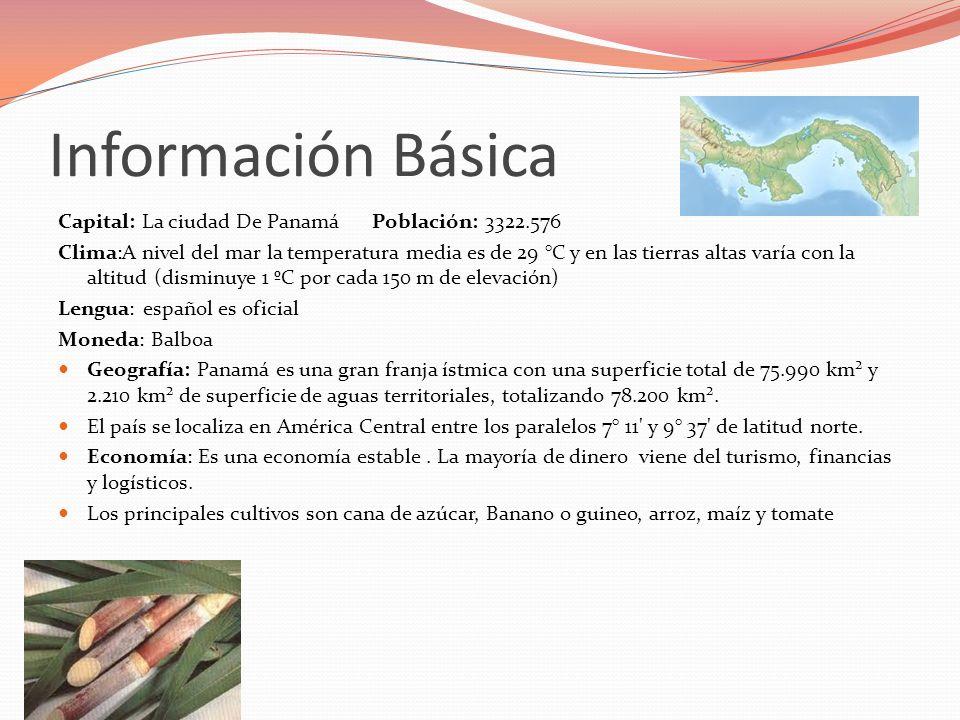 Información Básica Capital: La ciudad De Panamá Población: 3322.576