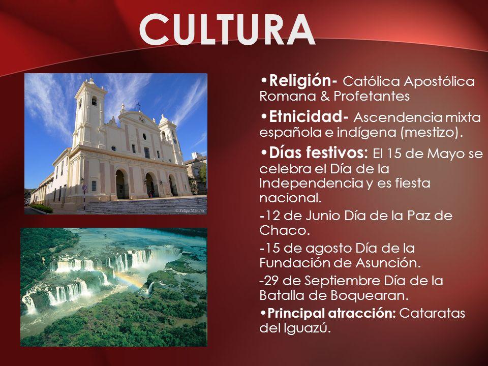 CULTURA Religión- Católica Apostólica Romana & Profetantes