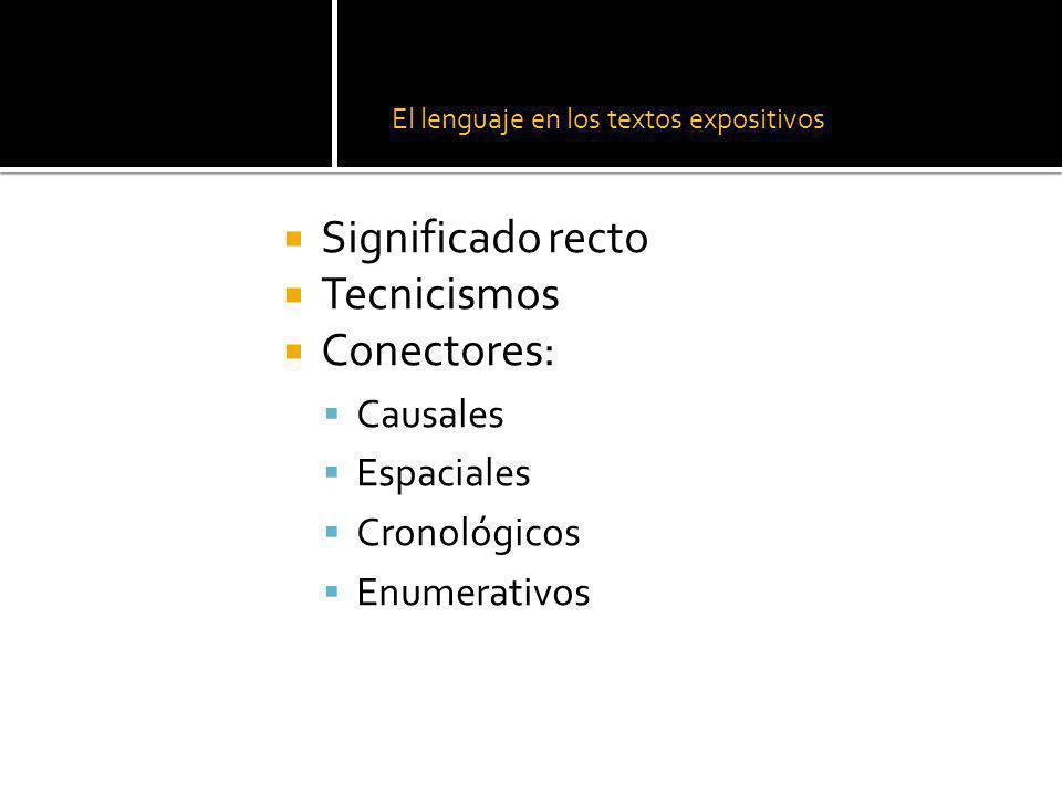 El lenguaje en los textos expositivos