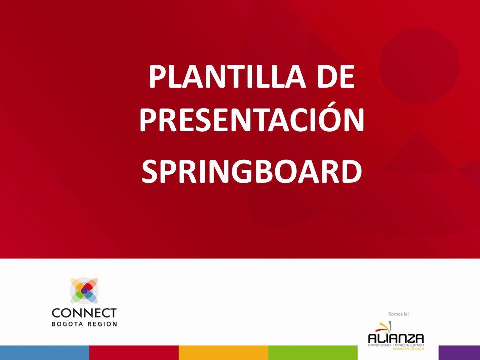 PLANTILLA DE PRESENTACIÓN SPRINGBOARD