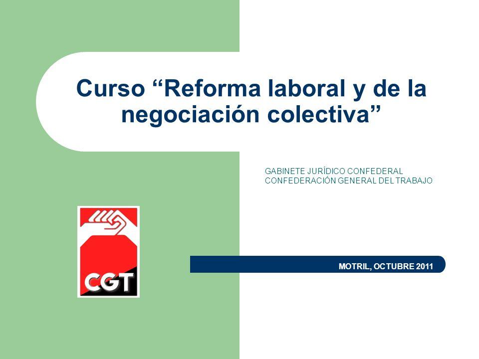 Curso Reforma laboral y de la negociación colectiva