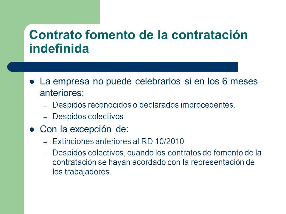 Contrato fomento de la contratación indefinida