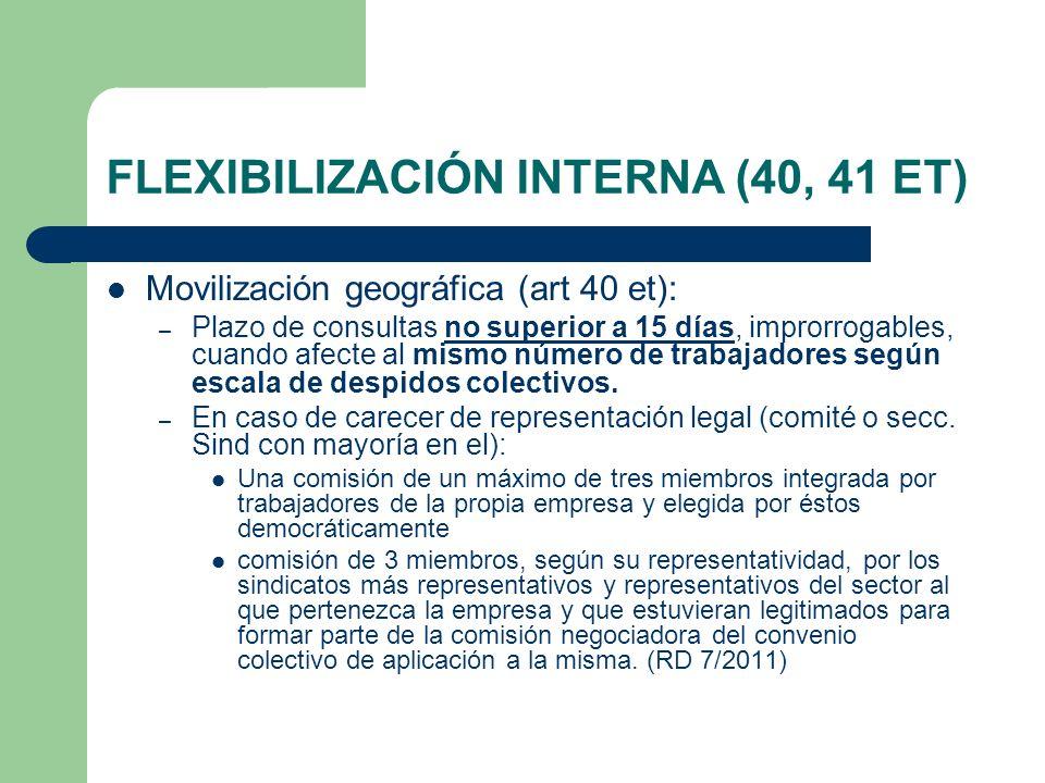 FLEXIBILIZACIÓN INTERNA (40, 41 ET)