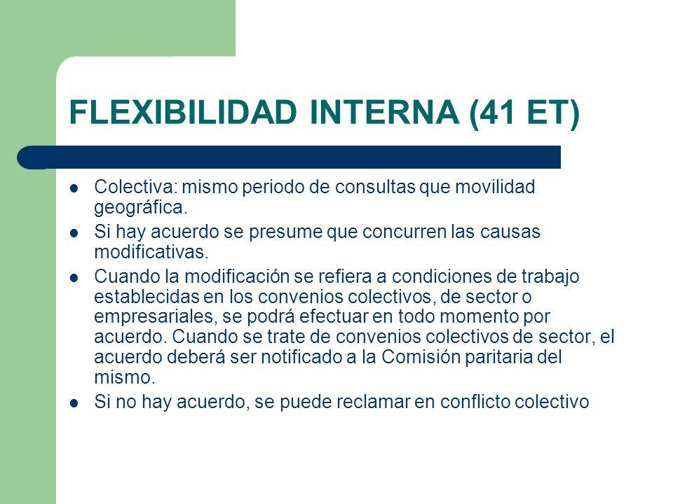 FLEXIBILIDAD INTERNA (41 ET)