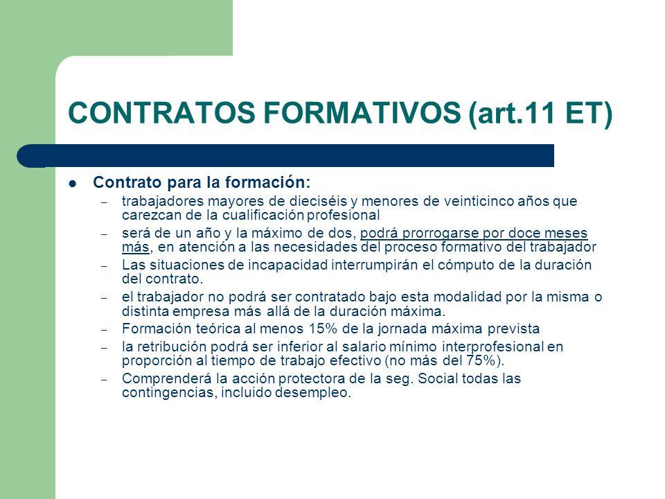 CONTRATOS FORMATIVOS (art.11 ET)