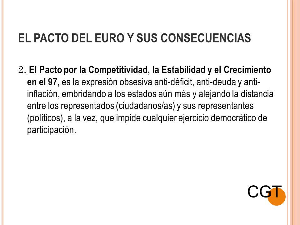 EL PACTO DEL EURO Y SUS CONSECUENCIAS