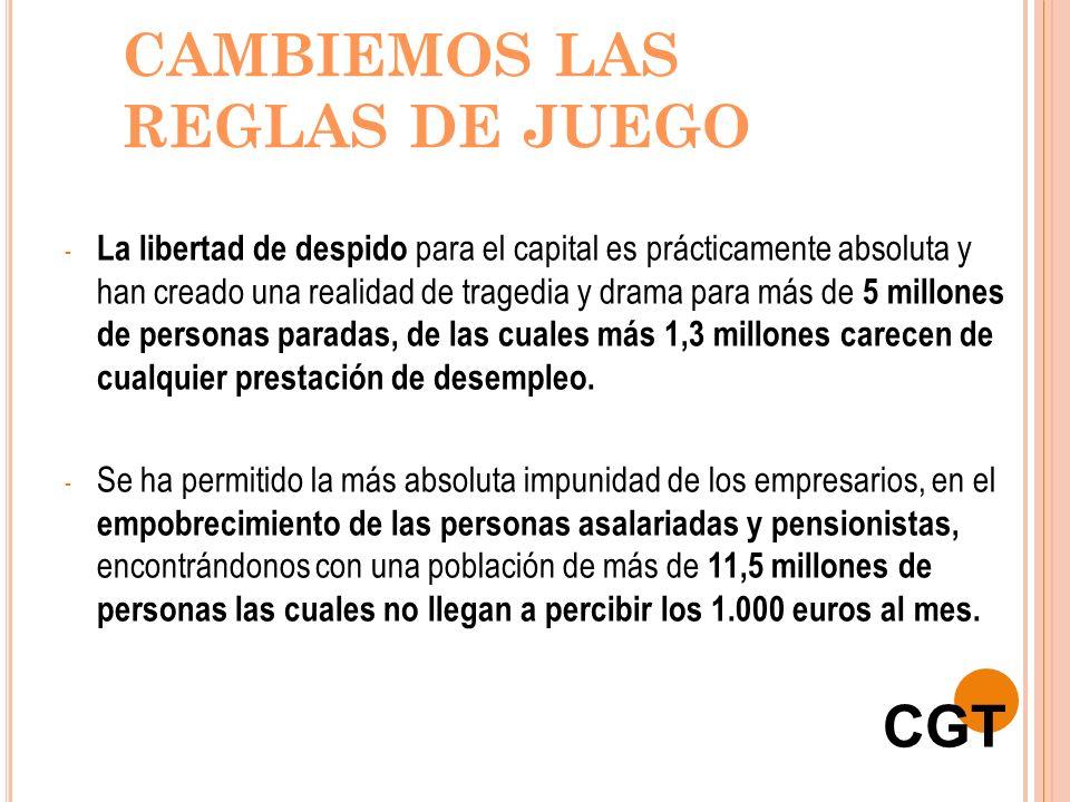 CAMBIEMOS LAS REGLAS DE JUEGO