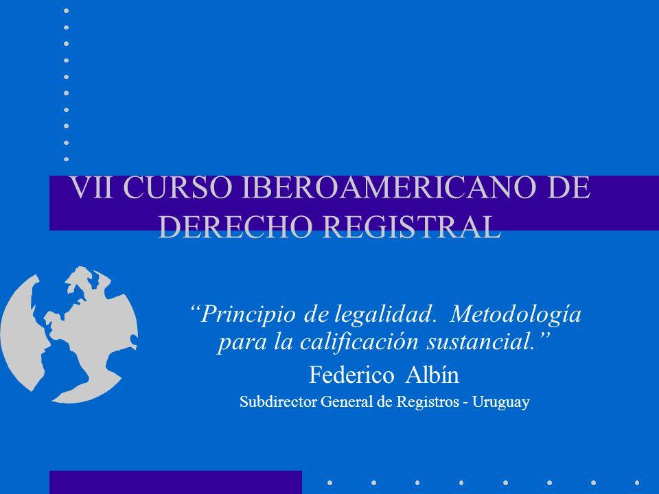 VII CURSO IBEROAMERICANO DE DERECHO REGISTRAL