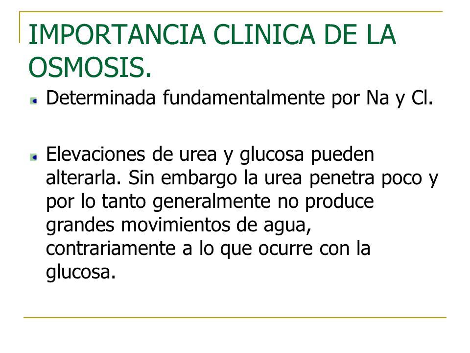 IMPORTANCIA CLINICA DE LA OSMOSIS.
