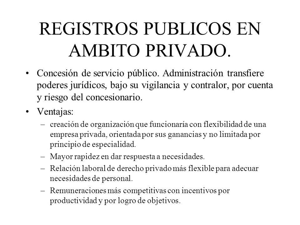 REGISTROS PUBLICOS EN AMBITO PRIVADO.