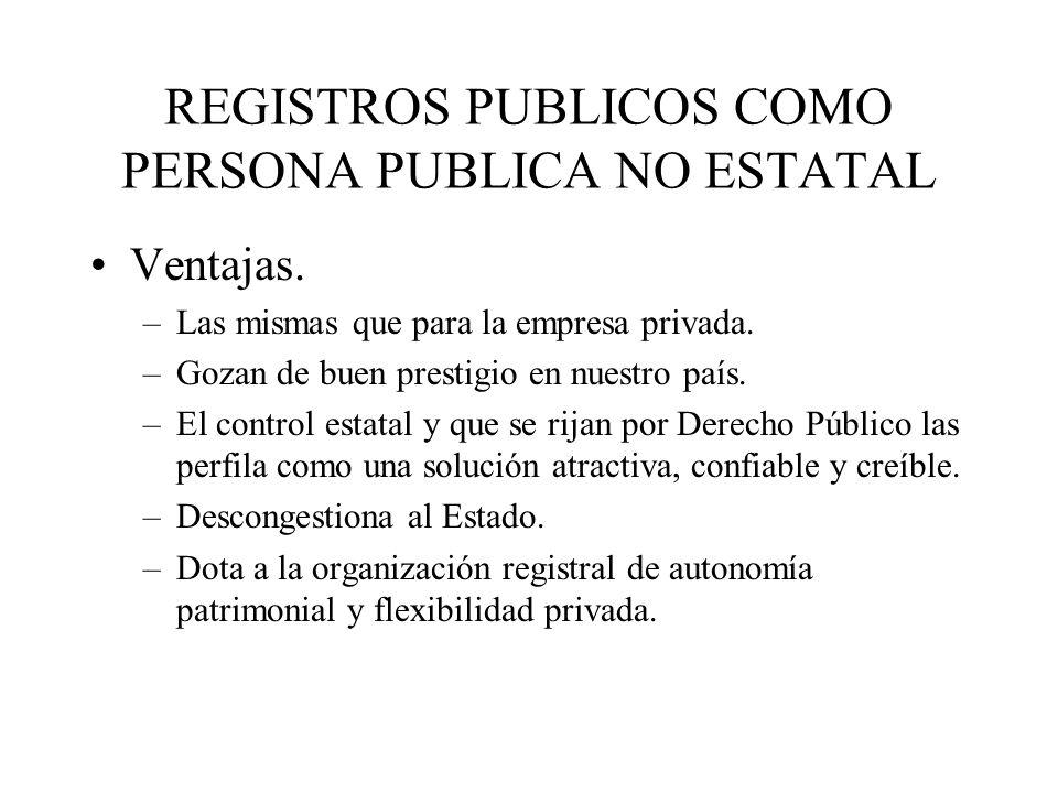 REGISTROS PUBLICOS COMO PERSONA PUBLICA NO ESTATAL