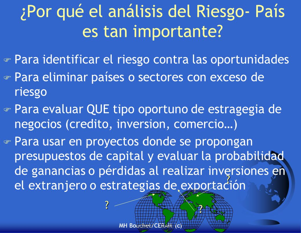 ¿Por qué el análisis del Riesgo- País es tan importante