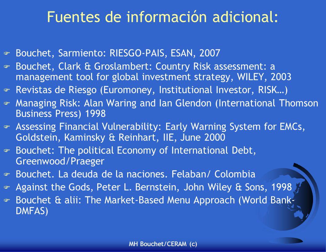 Fuentes de información adicional: