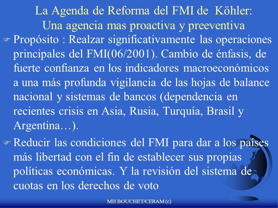 La Agenda de Reforma del FMI de Köhler: Una agencia mas proactiva y preeventiva