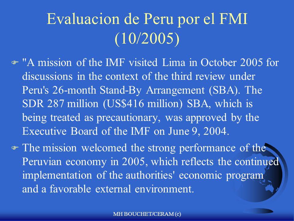 Evaluacion de Peru por el FMI (10/2005)