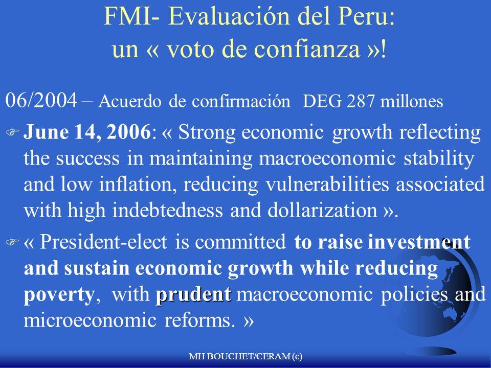 FMI- Evaluación del Peru: un « voto de confianza »!