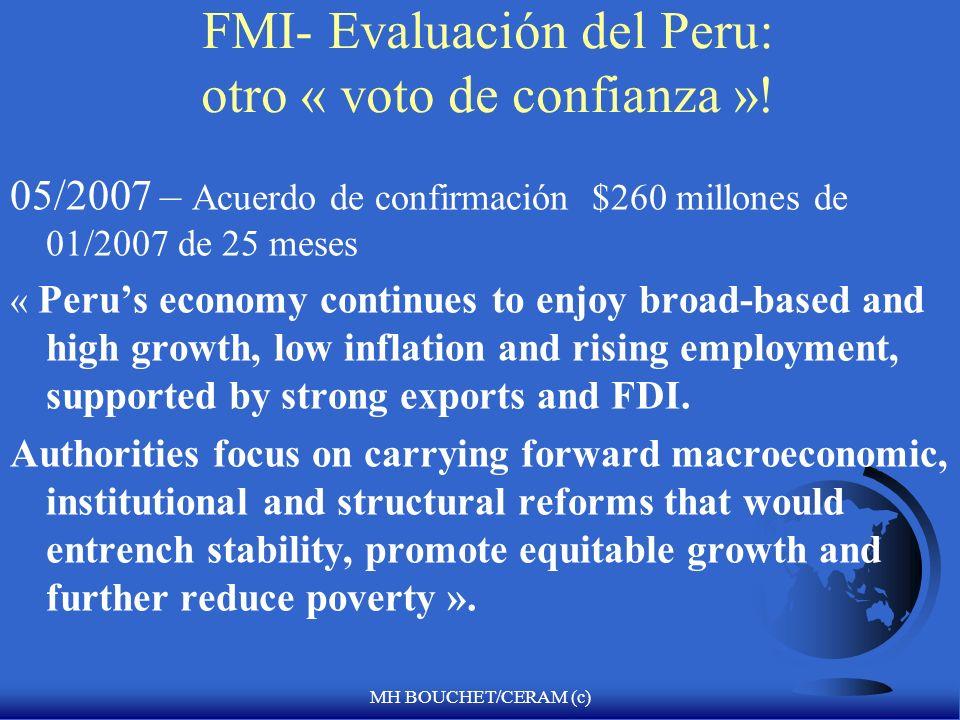 FMI- Evaluación del Peru: otro « voto de confianza »!
