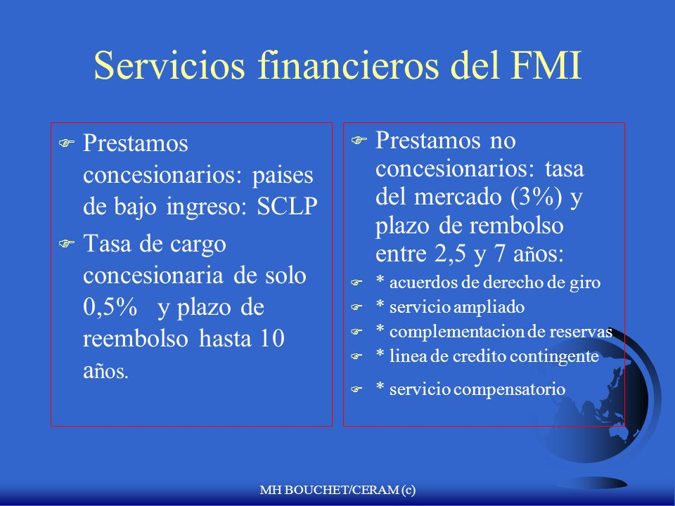Servicios financieros del FMI