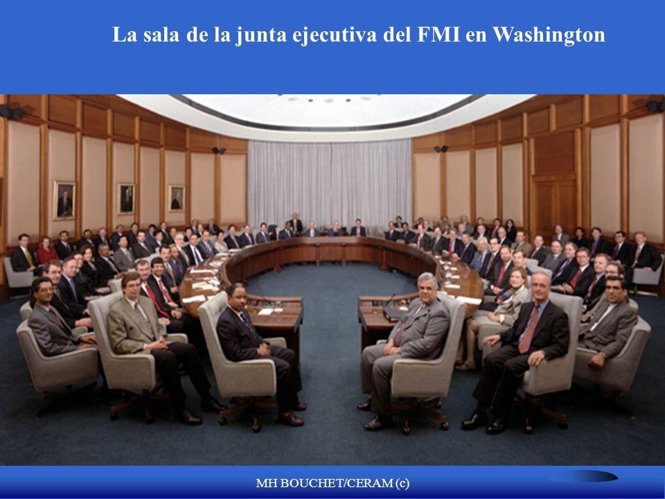 La sala de la junta ejecutiva del FMI en Washington