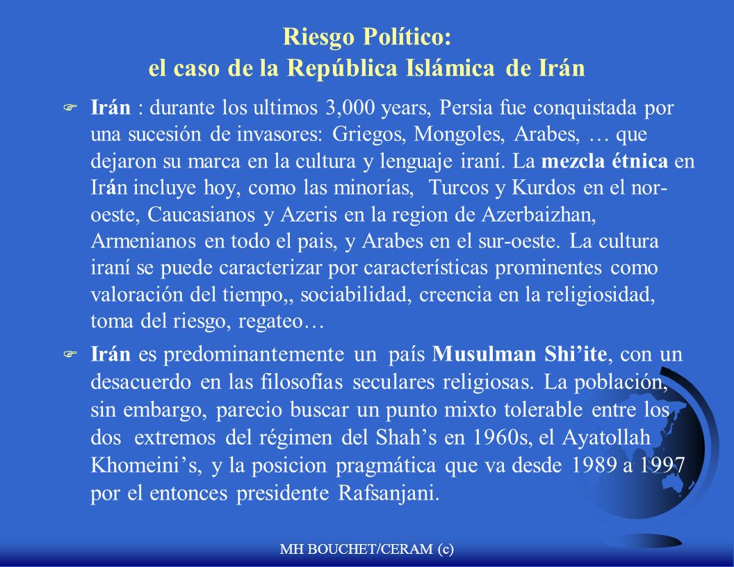 Riesgo Político: el caso de la República Islámica de Irán