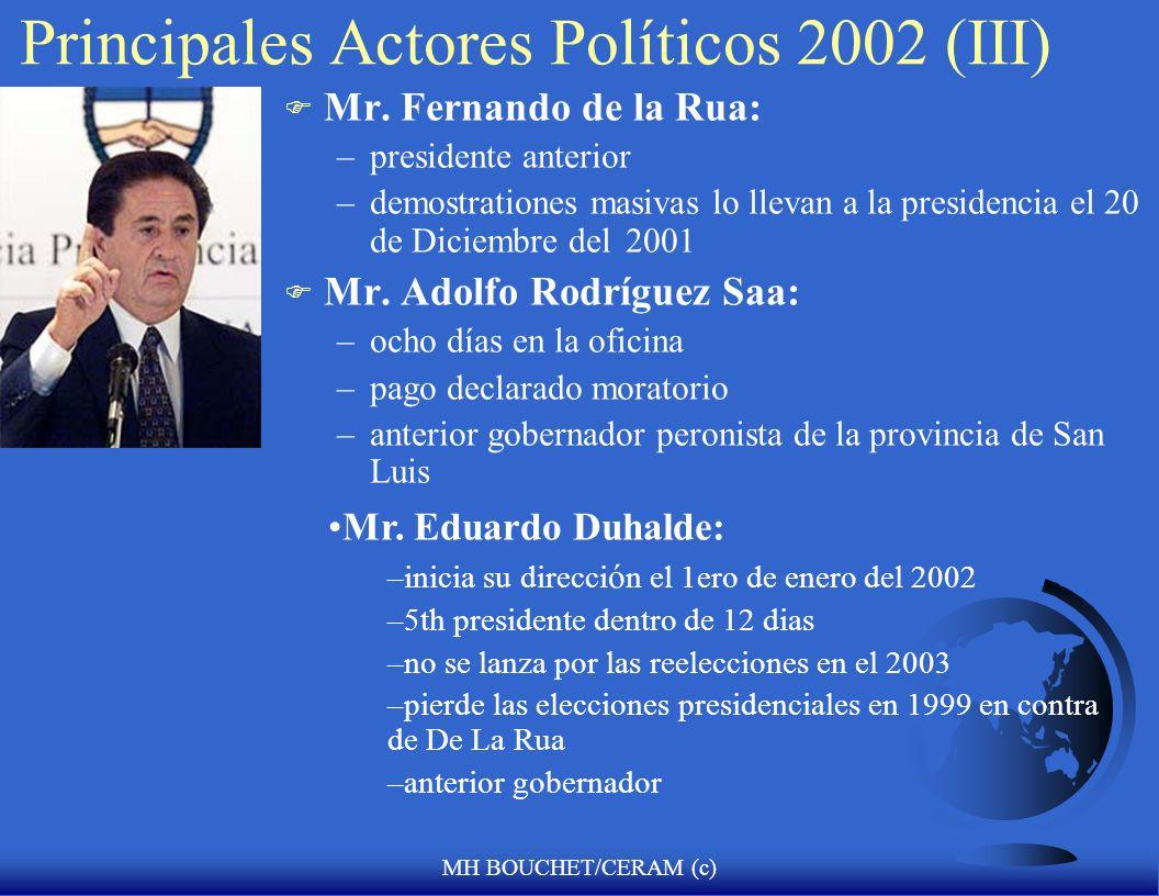 Principales Actores Políticos 2002 (III)