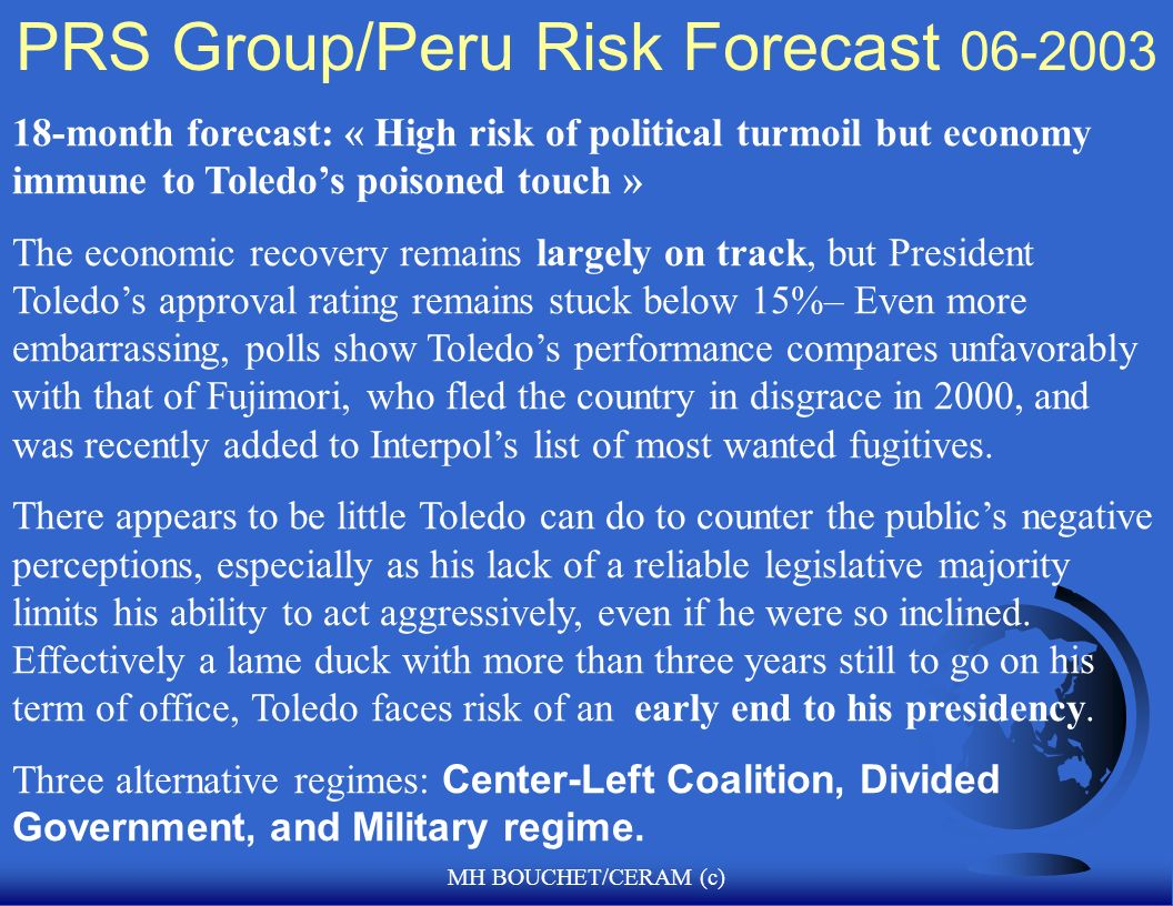 PRS Group/Peru Risk Forecast 06-2003