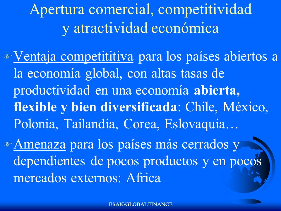 Apertura comercial, competitividad y atractividad económica