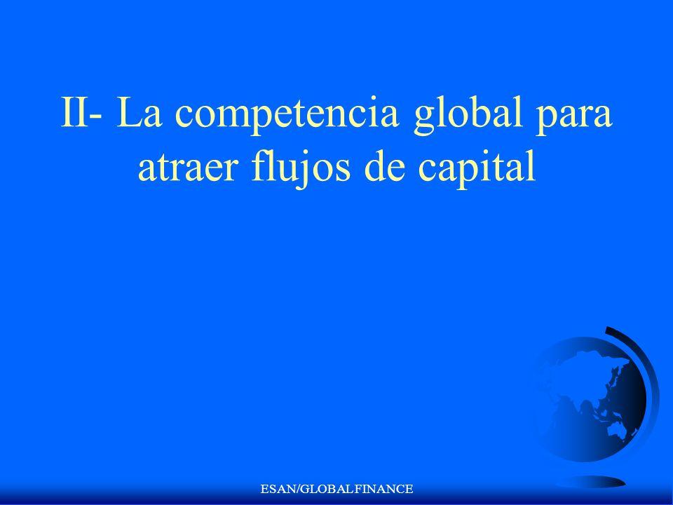 II- La competencia global para atraer flujos de capital