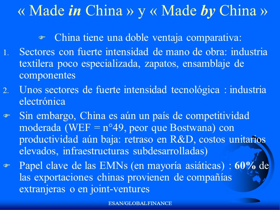 « Made in China » y « Made by China »
