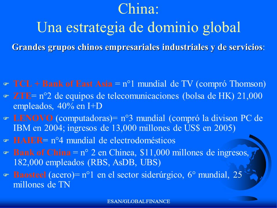China: Una estrategia de dominio global