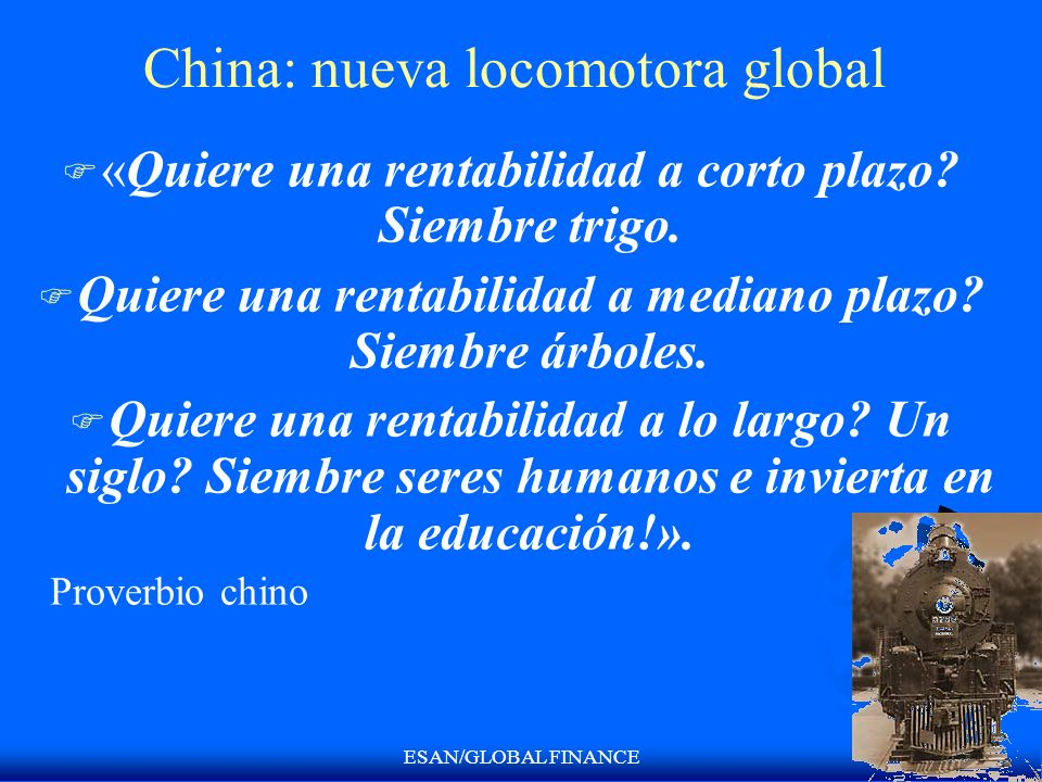 China: nueva locomotora global