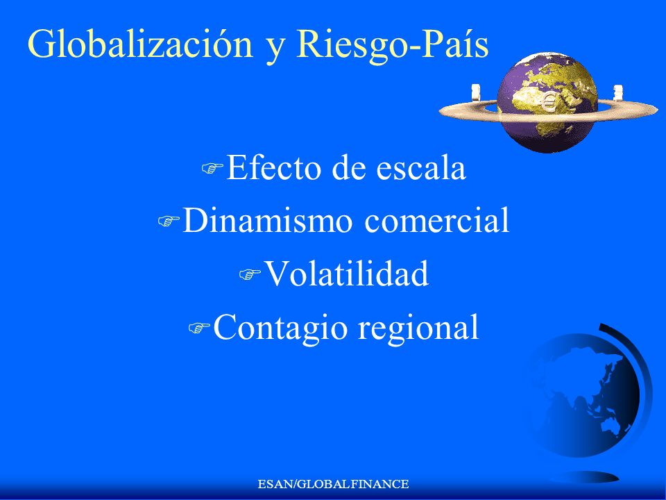 Globalización y Riesgo-País