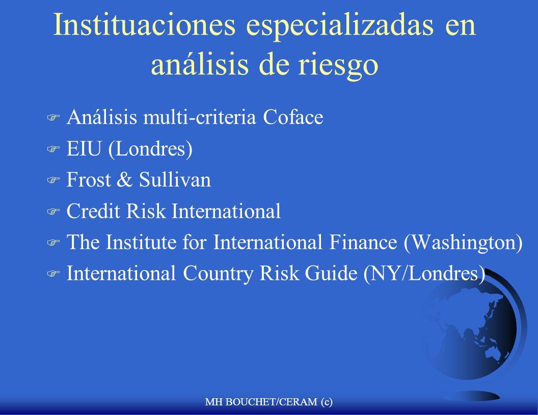 Instituaciones especializadas en análisis de riesgo