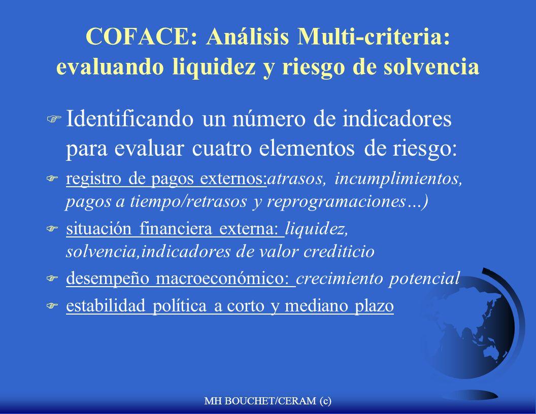 COFACE: Análisis Multi-criteria: evaluando liquidez y riesgo de solvencia