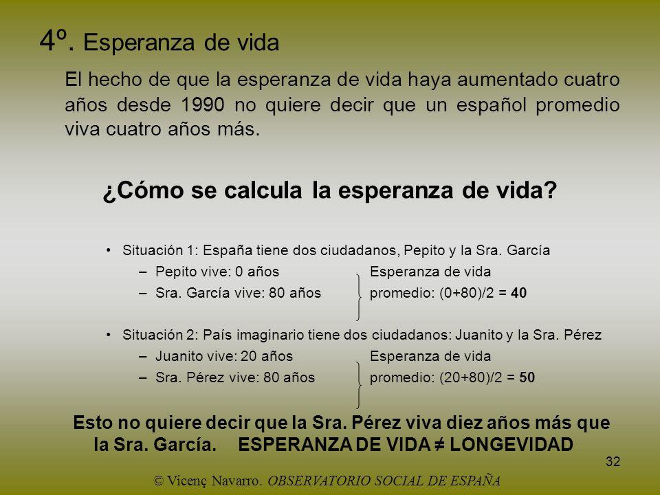 ¿Cómo se calcula la esperanza de vida