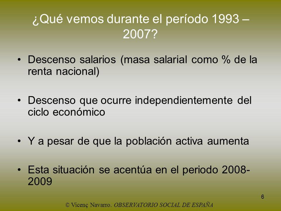 ¿Qué vemos durante el período 1993 – 2007