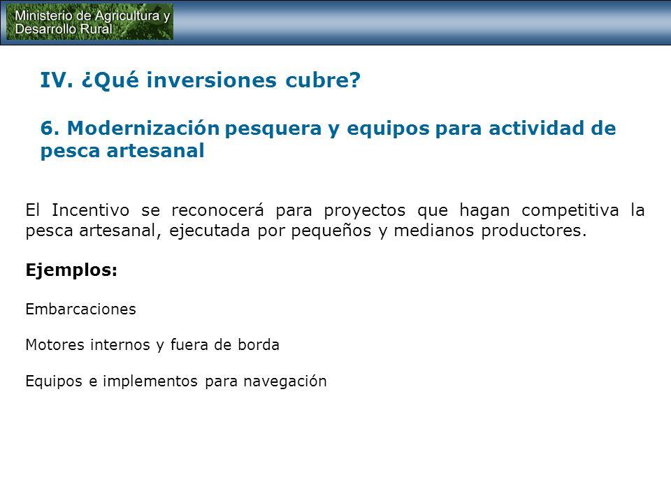IV. ¿Qué inversiones cubre. 6